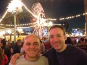 Me and Larry at Paradise Pier at night