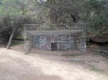 One of the cages at the old Los Angeles Zoo