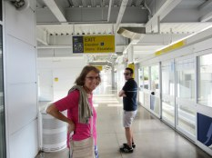 In the Flamingo's Monorail station