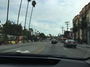 Driving east on Sunset Blvd towards DTLA