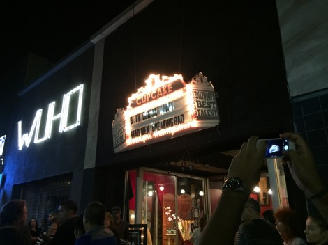 Outside the Cupcake Theater