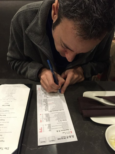 Larry makes the important decisions at Dim Tai Fung