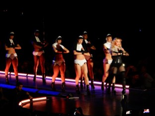"Madonna then brought out the Sexy Nuns for ""Holy Water"""