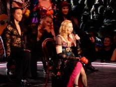 Madonna then had a challenge to her dancers to catch those maracas