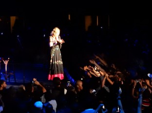 """A Los Angeles treat: Madonna sang """"Like A Prayer"""" which isn't normally on the setlist"""