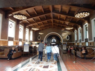 Walking thru Union Station