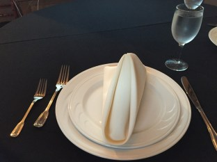 What our tasting flatware and plating looked like