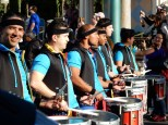 Smiling drummers