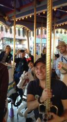 The gang on the carousel
