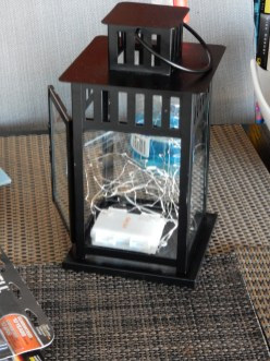 Here's the initial state of the IKEA lantern along with the battery-powered lights