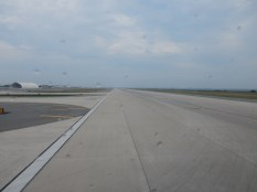 The view down the runway