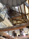 That's looking up the main atrium of the hotel - lots of charm here