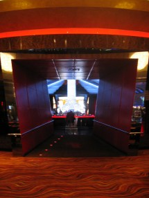 The spaceshippy bar in the middle of the casino