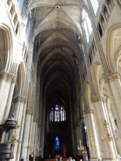 Inside - the lighting almost makes it seem this is taller than Notre Dame