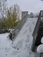 My snow staircase waterfall