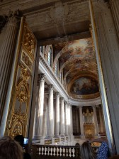 That's looking into the gorgeous chapel of Versailles