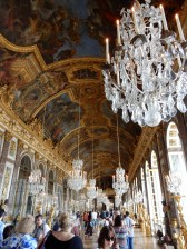 A very stunning central gallery of Versailles used for many political events