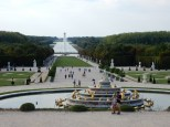 Gazing out at the Grand Canal of Versailles