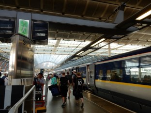 Arrival to St Pancras Station in London!