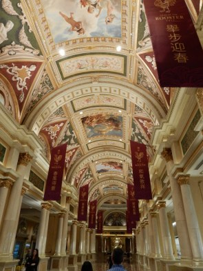 The path in the Venetian to get to Bouchon was over the top