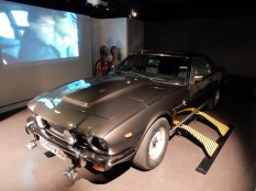The Aston Martin V8 from The Living Daylights - note the cello and case in the background