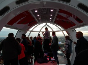 Inside our Champagne pod