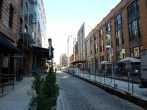 The cobblestone streets of the Meatpacking District