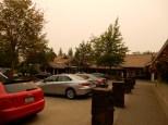 Here's the driveway of the Salish Lodge / Great Northern