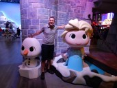 With Olaf and Elsa