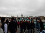 Heading across the Millennium Bridge