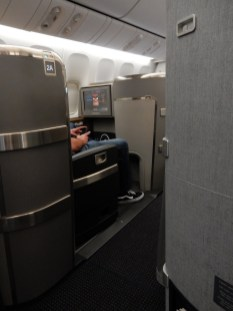 My view of First Class - didn't seem that much nicer than Business