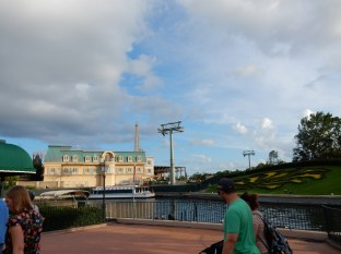 You can see the France part of EPCOT
