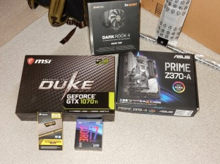 New PC pieces for a new 2018 PC