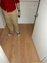 Larry in the wooden-floor closet