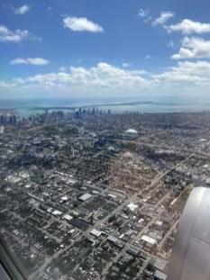 Miami out the plane window