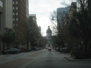Looking down towards the state capitol