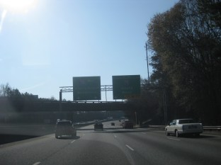 Heading around Atlanta on the bypass