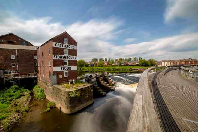 Long Exposure Photo Stacking at Castleford-Stoneground-Flour-Mill-Long-Exposure