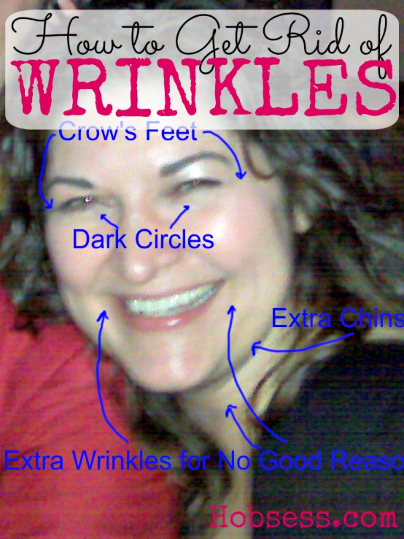 Work on those wrinkles.
