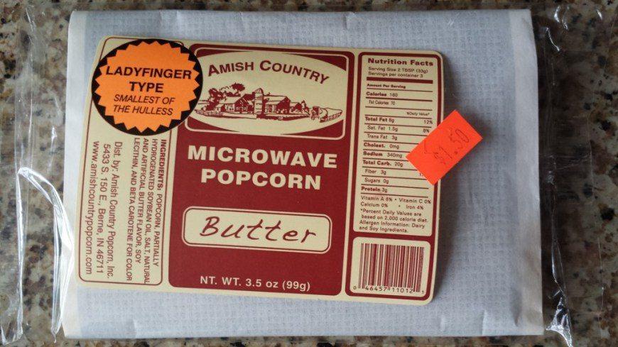 Amish Microwave Popcorn