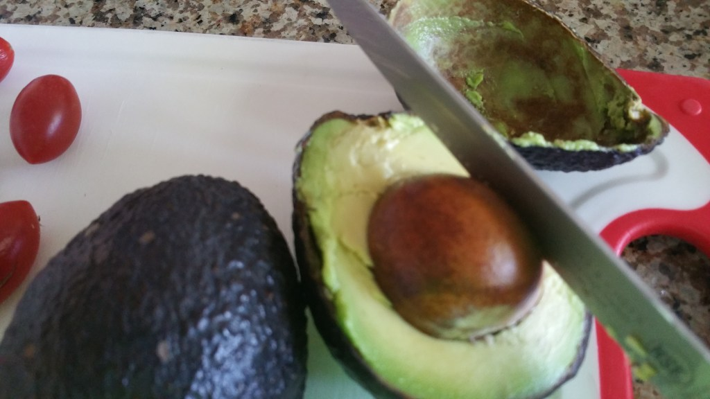 remove seed from avocado