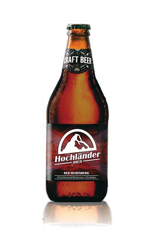 Botella Cerveza Hochländer Red Heisenberg
