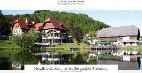 Startseite Seegasthof Breineder - neue Website
