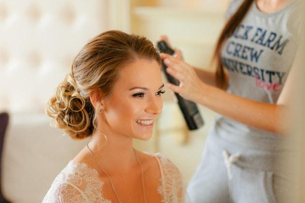 Braut Make Up Hochzeitsfrisur Vom Brautstylisten Machen Lassen