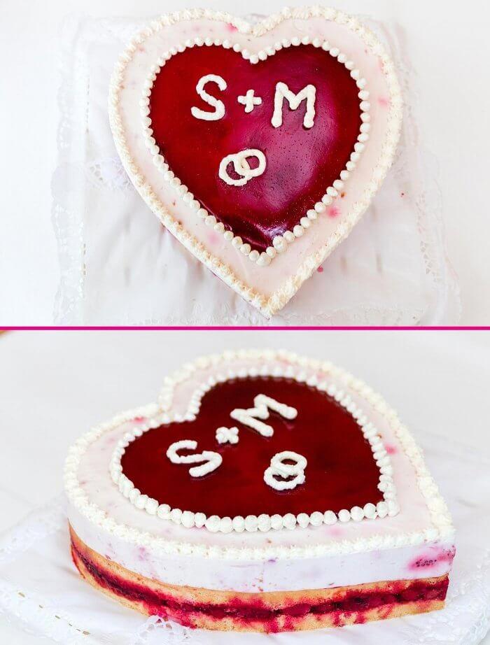 Eine Schlichte Hochzeitstorte Hochzeitstorte Herzform Torte