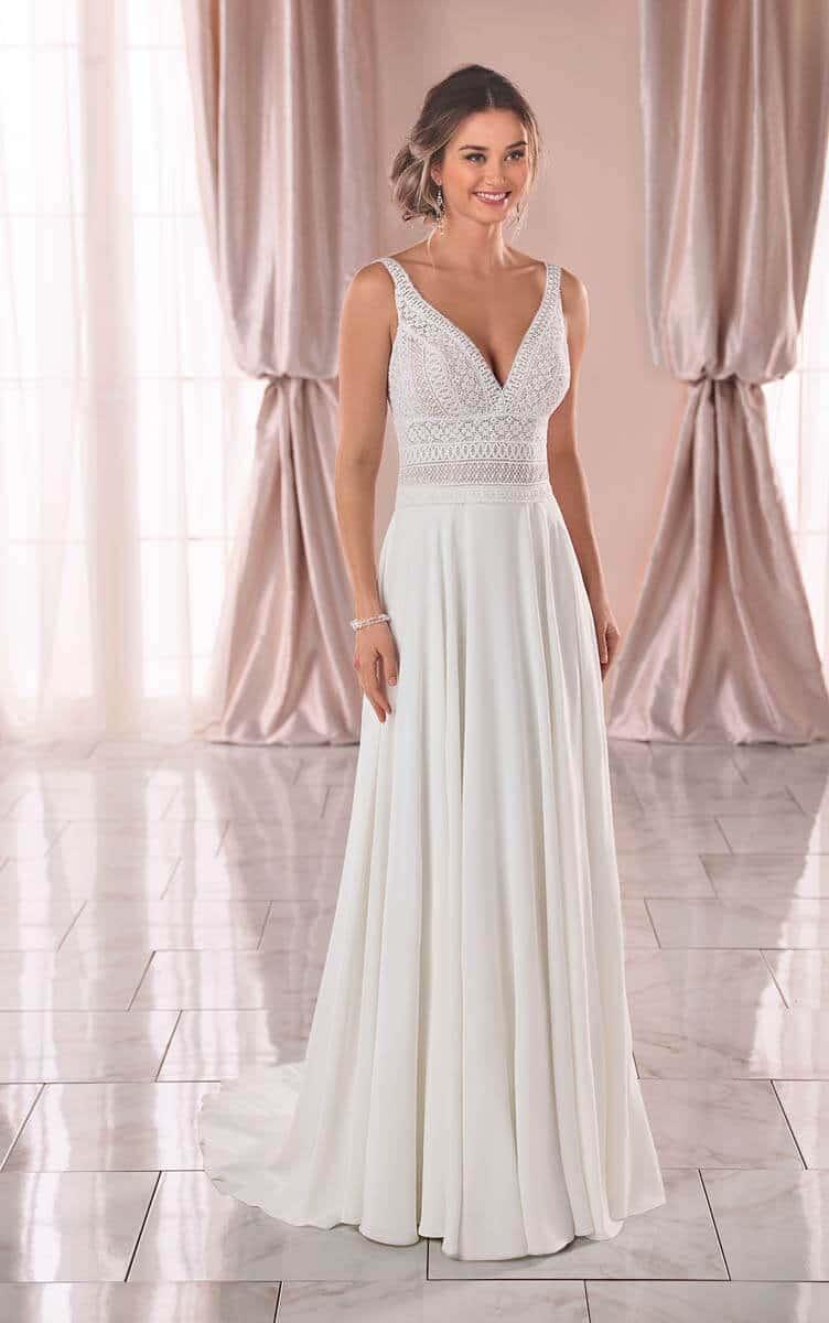 Rabatt Bohmischen Stil Boho Strand Brautkleider 2020 Bohmischen