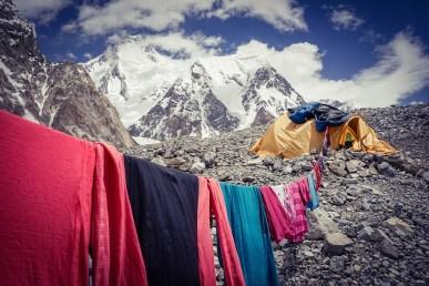 Waschtag im Basislager