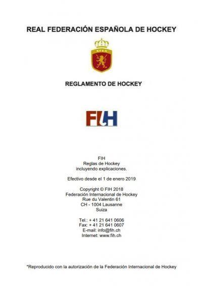 Reglamento hockey hierba 2019