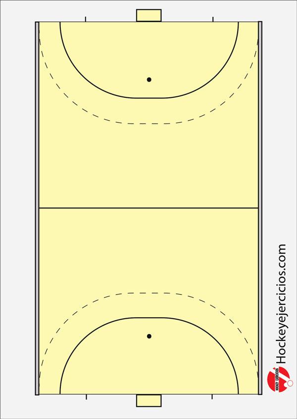 Plantilla ejercicios de hockey, área de sala