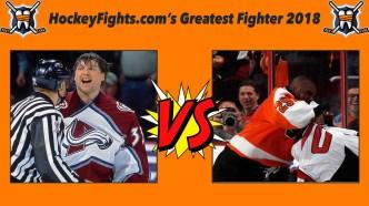 HockeyFights.com Fantasy Fighting Championship Bracket: Round One – Day Five